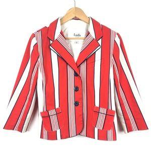 LUELLA FOR TARGET Orange Striped Blazer Jacket